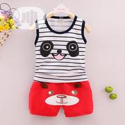 2 PCS Striped Vest And Short | Children's Clothing for sale in Lagos State, Oshodi-Isolo