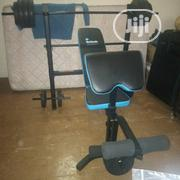 Bench Press With 50kg Barbell, Dumbbell Biceps Curl Pad | Sports Equipment for sale in Lagos State, Isolo