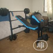 Bench Press With 50kg Barbell, Dumbbell Biceps Curl Pad | Sports Equipment for sale in Rivers State, Eleme