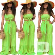 2 Piece Jumpsuit Women Crop Top and Wide Leg Pant | Clothing for sale in Rivers State, Port-Harcourt