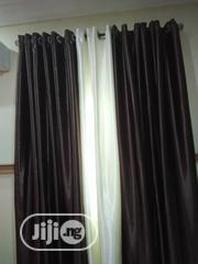 Chocolate And Cream Quality Curtains Available In Our Store | Home Accessories for sale in Lagos State, Lagos Mainland