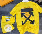 Off-White Round Neck T-Shirt   Clothing for sale in Lagos State, Lagos Island