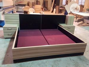 6ft X 6ft Bedframe With Upholstered Wooden Weight Support