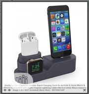 3 in 1 Charging Stand for Airpods Apple Watch iPhone | Headphones for sale in Rivers State, Port-Harcourt