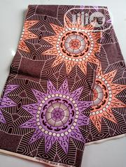 Brown Peach And Lilac Medium Grade Ankara | Clothing Accessories for sale in Lagos State, Agege