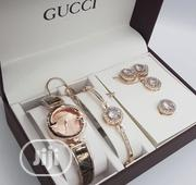 Gucci 5in1 Set Lady'S Wrist Watch   Watches for sale in Lagos State, Surulere