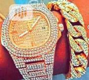 Patek Philippe Gold Wrist Watch And Chain | Watches for sale in Lagos State, Surulere