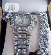 Patek Philippe Silver Wrist Watch, Ring And Chain | Watches for sale in Lagos State, Surulere