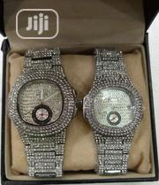 Patek Philippe Silver Black Wrist Watch | Watches for sale in Lagos State, Surulere