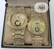 Patek Philippe Couple Gold Ice Stones Wrist Watch | Watches for sale in Lagos State, Surulere