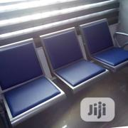 Blue Leather Airport Chair   Furniture for sale in Lagos State, Lekki Phase 1