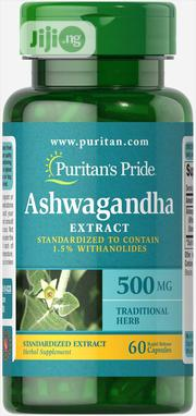 Ashwagandha Standardized Extract 500mg (Promotes Well Being) - 60 Caps | Vitamins & Supplements for sale in Lagos State, Ipaja