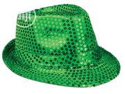 Sequin Green Fedora Hat With LED Lights | Clothing Accessories for sale in Lagos State, Surulere