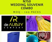 Wedding Souvenir Combo Set : Kitchen Napkin ,Water Mug & Souvenir Bag | Kitchen & Dining for sale in Lagos State, Ikeja