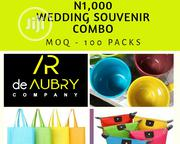 Wedding Souvenir Combo :Contains Water Mug ,Toilet Bag &Souvenir Bag | Kitchen & Dining for sale in Lagos State, Ikeja
