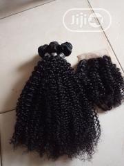 """Kinky Curly Human Hair With Closure 18"""" Available 