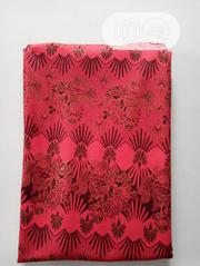 Red Flowered Poly Fabric DC0102 | Clothing for sale in Lagos State, Agege