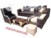 Set of L-Shaped Sofa, a Single Seater Chair, Table and Stool | Furniture for sale in Lagos State, Lagos Mainland