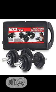 20KG( Black ) Adjustable Dumbbell With Case | Sports Equipment for sale in Lagos State, Ilupeju
