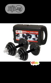 Black 20KG Dumbbell With Case Detachable | Sports Equipment for sale in Lagos State, Ibeju