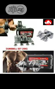20KG Adjustable Chrome Steel Dumbbell With Case | Sports Equipment for sale in Lagos State, Ikoyi