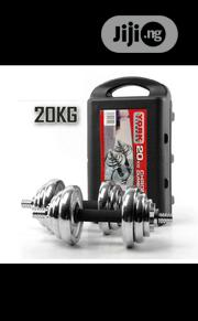 20kg Adjustable Chrome Steel Dumbbell With Case | Sports Equipment for sale in Lagos State, Ibeju