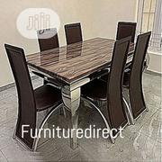 Marble Bronixx Dining Set + 6 Sitting Dinning Chairs | Furniture for sale in Abuja (FCT) State, Maitama