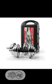 20kg Dumbbell With Case Chrome And Adjustable | Sports Equipment for sale in Lagos State, Ifako-Ijaiye