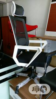 White Plastic Back Executive Classy Mesh Office Chair | Furniture for sale in Lagos State, Ojo