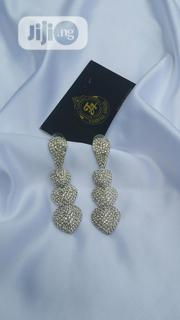 Long Bridal Full Stone White Earring | Jewelry for sale in Lagos State, Ajah