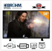 Bruhm 58-inch Smart 4K UHD LED TV- Black +Wall Bracket | TV & DVD Equipment for sale in Abuja (FCT) State, Central Business District