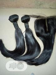 12 Inches Double Drawn Bone Straight With 4*4 Closure | Hair Beauty for sale in Abuja (FCT) State, Lugbe