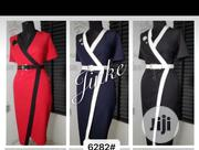 Nice Quality Ladies Office Designed Gown with Belt   Clothing Accessories for sale in Lagos State, Ikeja