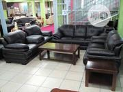 Quality Leather Sofa 4 Sets Of Chair | Furniture for sale in Lagos State, Ojo