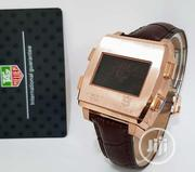 Tag Heuer Square Digital Rose Gold Leather Strap Watch | Watches for sale in Lagos State, Lagos Island