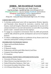 Computing & IT CV | Computing & IT CVs for sale in Abuja (FCT) State, Jabi