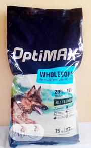 Optimax Dog Food Puppy Adult Dogs Cruchy Dry Food Top Quality | Pet's Accessories for sale in Lagos State, Victoria Island
