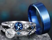 Silver and Sapphire Wedding Rings Set | Jewelry for sale in Lagos State, Ikorodu