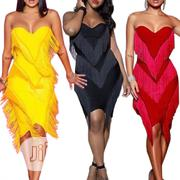 Strapless Fringe Dress | Clothing for sale in Rivers State, Port-Harcourt