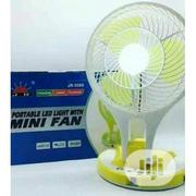 Portable Rechargeable Fan With Led Light | Home Appliances for sale in Lagos State, Ikeja