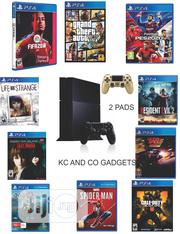 Ps4 Console Console With 2 Pads And 10 Latest Installed Games | Video Games for sale in Lagos State, Ikeja
