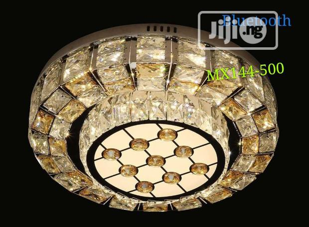 Crystal Flush Chandelier With Bluetooth