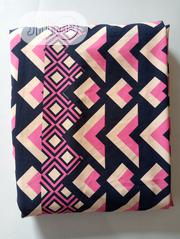 Pink And Blue Geometric Crepe Fabric DC0128 | Clothing for sale in Lagos State, Agege