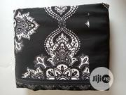 Black And White Flowered Monochrome Crepe Fabric DC0133 | Clothing for sale in Lagos State, Agege