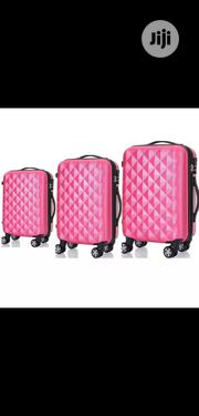 Luggage Box With 4 Wheels Set Of 3- Pink | Bags for sale in Lagos State, Lagos Island