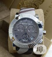 Burberry Chronograph Silver Leather Strap Watch | Watches for sale in Lagos State, Lagos Island