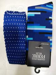 Set of Blue With White Dots Designers Tie and Socks | Clothing Accessories for sale in Lagos State, Lagos Island