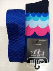 Set Of Blue Tie With Blue Multicolour Socks | Clothing Accessories for sale in Lagos State, Lagos Island