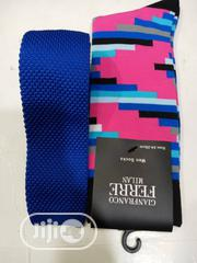 Set of Blue Designers Tie and Multi Colour Socks | Clothing Accessories for sale in Lagos State, Lagos Island