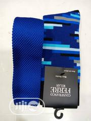 Set Of Blue Designers Tie And Blue Checked Socks | Clothing Accessories for sale in Lagos State, Lagos Island